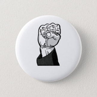 fist in the air 2 inch round button