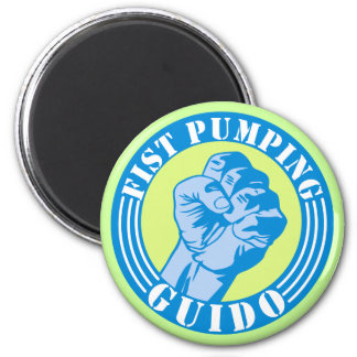 Fist Pumping Guido 2 Inch Round Magnet