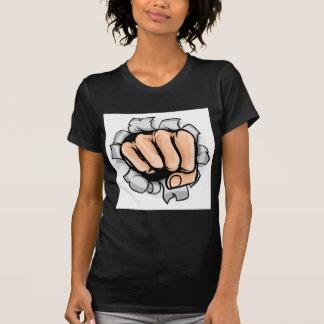 Fist Punching Hole T-Shirt