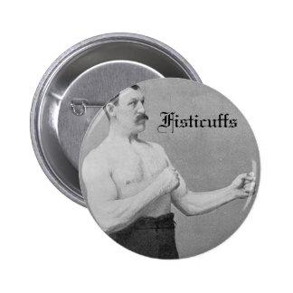 Fisticuffs heavyweight champion 2 inch round button