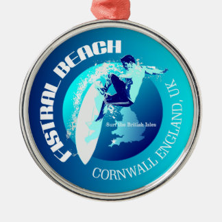 Fistral Beach Metal Ornament