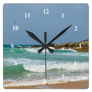Fistral Beach Newquay Cornwall England Square Wall Clock