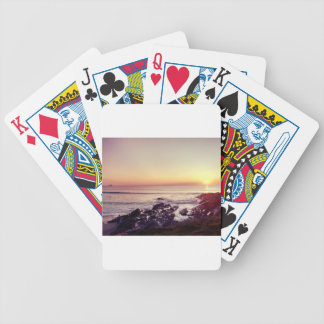 Fistral Beach Sunset Bicycle Playing Cards