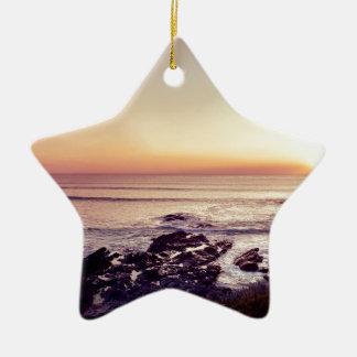 Fistral Beach Sunset Ceramic Ornament