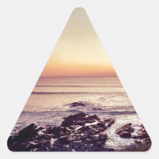 Fistral Beach Sunset Triangle Sticker