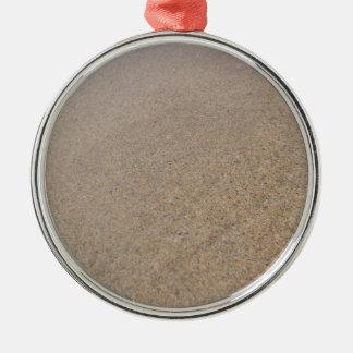 Fistral Sand Silver-Colored Round Ornament