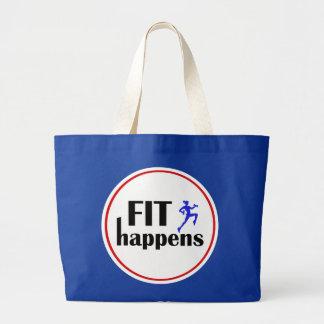 Fit Happens Workout Motivation Jumbo Tote Bag