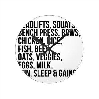 Fit Life Round Clock