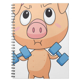 Fit pig spiral note books