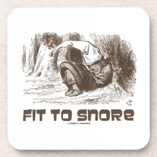 Fit To Snore Snoring Sleeping Red King Wonderland Beverage Coasters