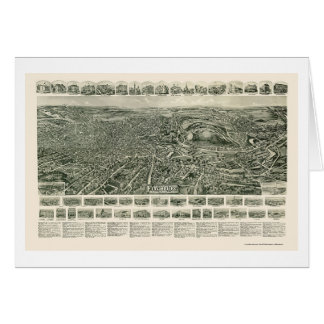 Fitchburg, MA Panoramic Map - 1915 Card