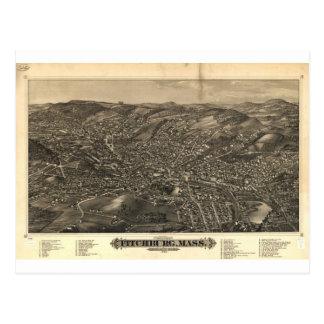 Fitchburg, Massachusetts in 1882 Postcard