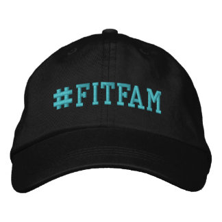 FITFAM Hashtag Embroidered Baseball Cap