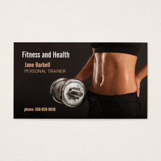 fitness and health business card