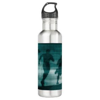Fitness App Tracker Software Silhouette 710 Ml Water Bottle