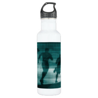 Fitness App Tracker Software Silhouette 710 Ml Water Bottle