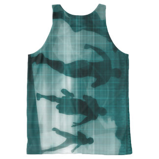 Fitness App Tracker Software Silhouette All-Over-Print Tank Top