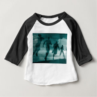 Fitness App Tracker Software Silhouette Baby T-Shirt
