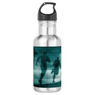 Fitness App Tracker Software Silhouette Illustrati 532 Ml Water Bottle