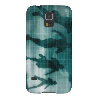 Fitness App Tracker Software Silhouette Illustrati Case For Galaxy S5