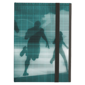 Fitness App Tracker Software Silhouette Illustrati Cover For iPad Air