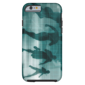 Fitness App Tracker Software Silhouette Illustrati Tough iPhone 6 Case