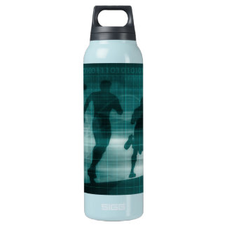 Fitness App Tracker Software Silhouette Insulated Water Bottle
