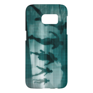 Fitness App Tracker Software Silhouette Samsung Galaxy S7 Case