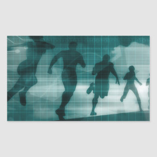 Fitness App Tracker Software Silhouette Sticker