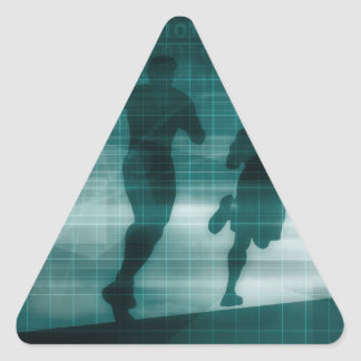 Fitness App Tracker Software Silhouette Triangle Sticker