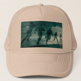 Fitness App Tracker Software Silhouette Trucker Hat