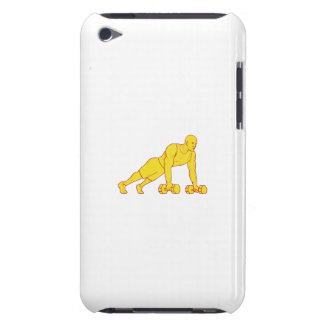 Fitness Athlete Push Up Dumbbell Drawing iPod Case-Mate Case