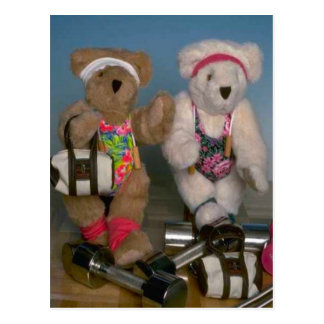 Fitness bears postcard