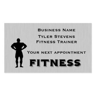 Fitness Bodybuilder Appointment Card Template Double-Sided Standard Business Cards (Pack Of 100)