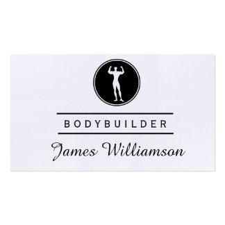 Fitness BODYBUILDER Logo Gym Sports Athlete Business Card