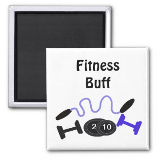 Fitness Buff with Workout Gear Magnet