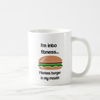 Fitness Burger Funny Quote Coffee Mug