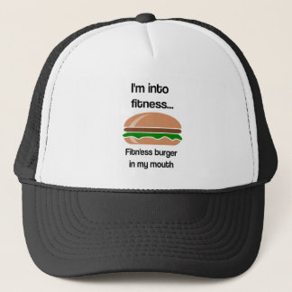 Fitness Burger Funny Quote Trucker Hat
