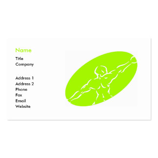 Fitness Business Card Template - light green