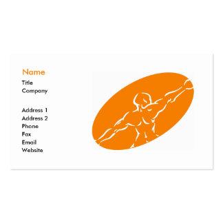 Fitness Business Card Template - Orange