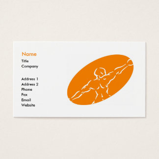Fitness Business Card Template - Orange