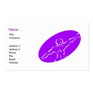 Fitness Business Card Template - purple