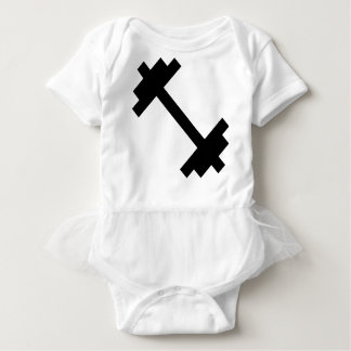 Fitness Center Dumbbell Baby Bodysuit