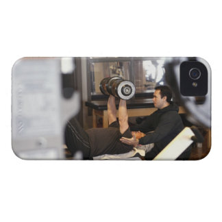 fitness coach works with 'senior' in gym iPhone 4 cases