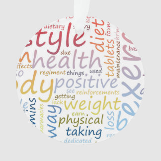 Fitness Concept for Weight Loss and Health Ornament