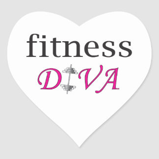 Fitness Diva Heart Sticker