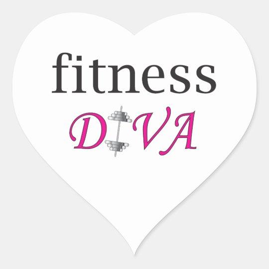 Fitness Diva Heart Sticker