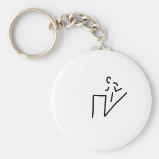 fitness ergometer CROSS coach run-bound sport Basic Round Button Keychain