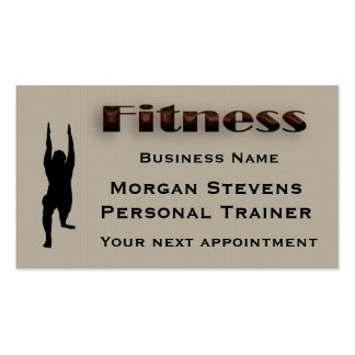 Fitness - Fitness Pose Appointment Card Template Pack Of Standard Business Cards