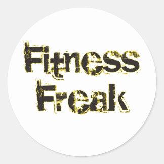 Fitness Freak - Black & Gold Classic Round Sticker